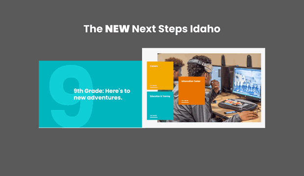The new next steps Idaho site