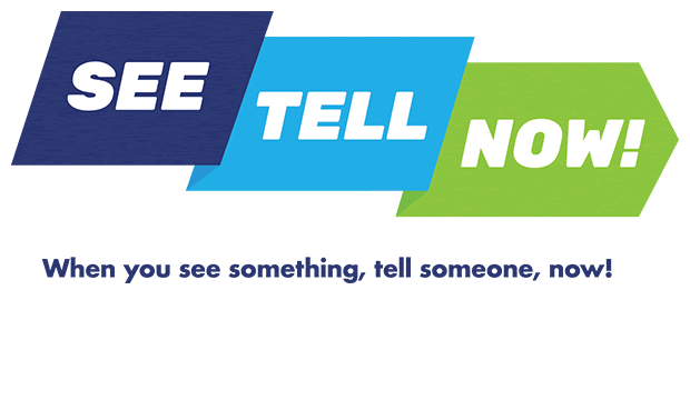 See Tell Now campaign logo